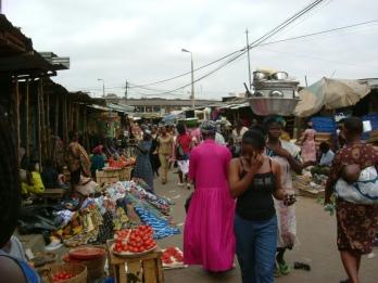 Cloth, veg and household goods