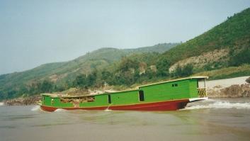Heading upriver, Laos