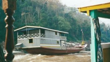 Mekong river boat, Laos
