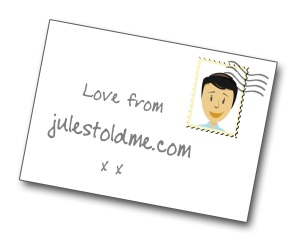 Jules Told Me postcard