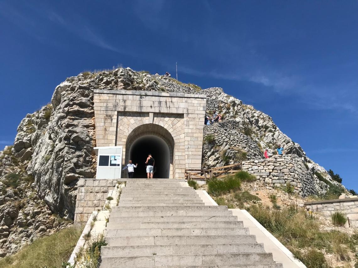Mausoleum entrance Mount Jezerski