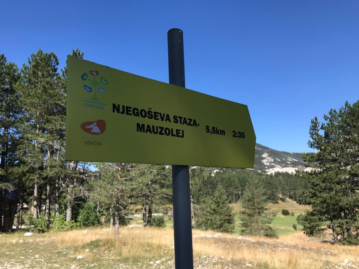 Signpost Lovcen National Park